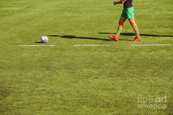 Photograph - Rugby Player Collecting The Ball. by Joaquin Corbalan