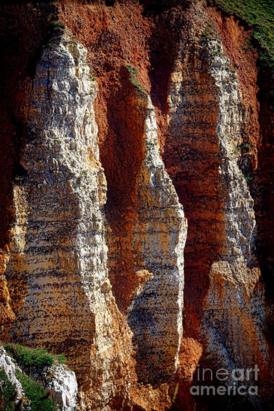 Wall Art - Photograph - Rugged Normandy Cliffs by Olivier Le Queinec