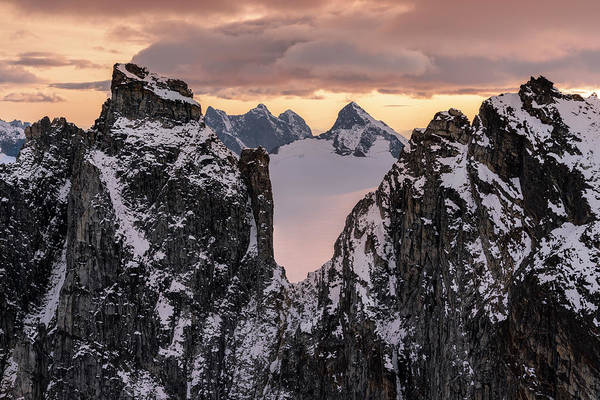 Wall Art - Photograph - Rugged Peaks And Snow-covered Glaciers by John Hyde