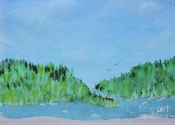 Painting - Rugged Shoreline, Green by Kim Nelson