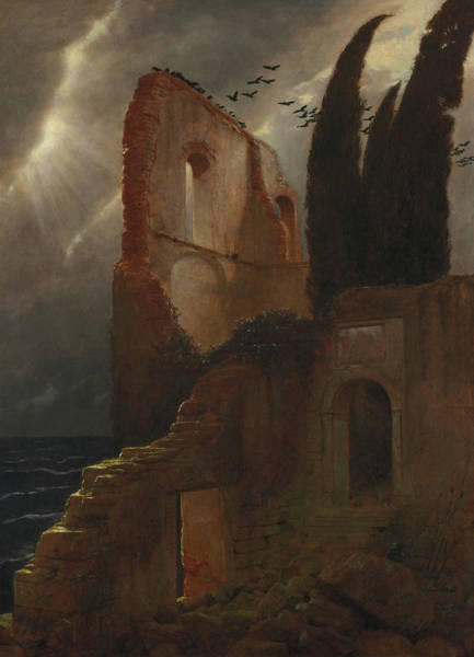 Wall Art - Painting - Ruin By The Sea by Arnold Bocklin