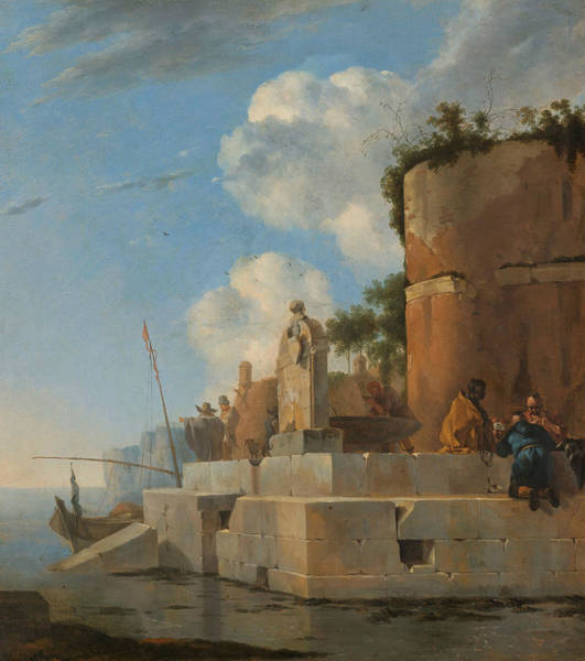 Wall Art - Painting - Ruin On The Water In Italy by Jan Asselijn