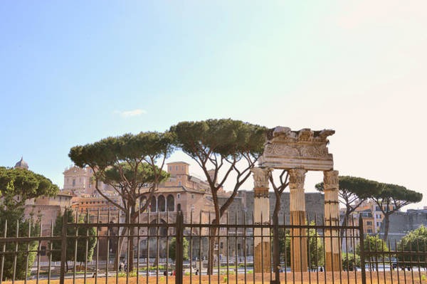 Photograph - Ruined Temple In The Forum Of Caesar by JAMART Photography