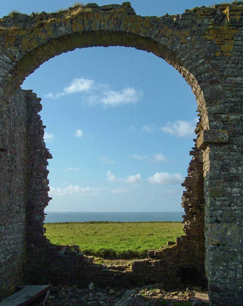 Wall Art - Photograph - Ruined Tower Folly Hartland North Devon by Richard Brookes