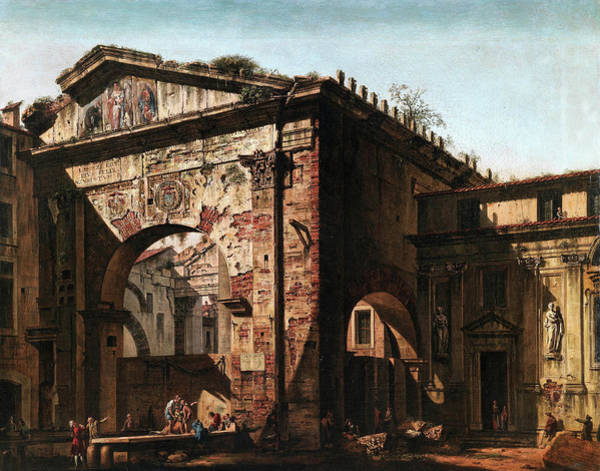 Collapse Painting - Ruins by Bernardo Bellotto