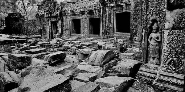 Wall Art - Photograph - Ruins Inside Temple, Preah Khan by Panoramic Images