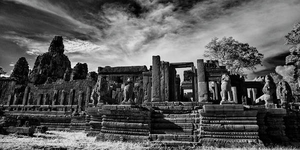 Wall Art - Photograph - Ruins Of Ancient Temple, Prasat Bayon by Panoramic Images