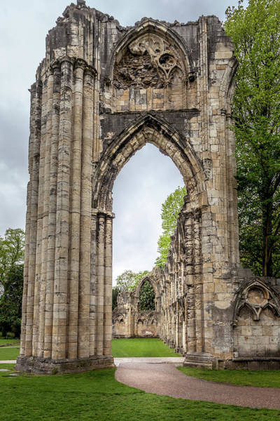 Wall Art - Photograph - Ruins Of St. Mary's Abbey, York by W Chris Fooshee