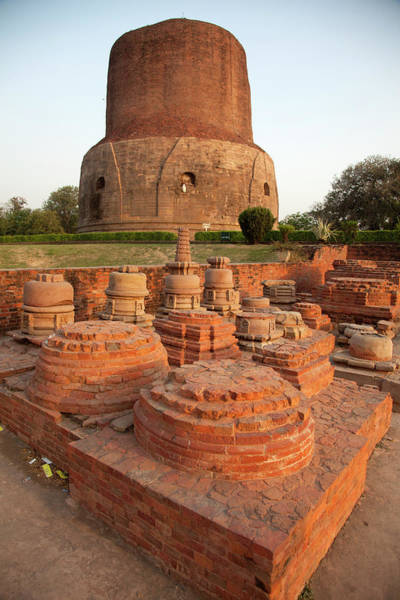 Pilgrimage Photograph - Ruins Of The Ancient Sacred Buddhist by Christine Pemberton