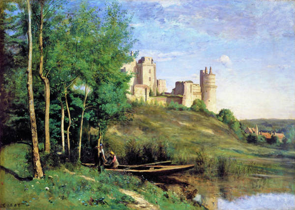 Wall Art - Painting - Ruins Of The Chateau De Pierrefonds - Digital Remastered Edition by Jean-Baptiste Camille Corot