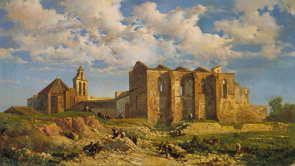 Painting - Ruins Of The Church Of The Holy Sepulchre by Ramon Marti Alsina