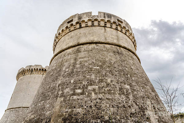 Photograph - Ruins Of The Defensive Circular Tower Of The Medieval Castle Of  by Joaquin Corbalan