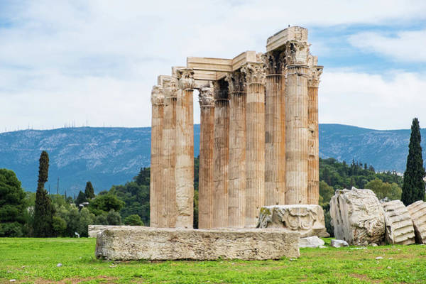 Photograph - Ruins Of The Temple Of Olympian Zeus In Athens by Iordanis Pallikaras