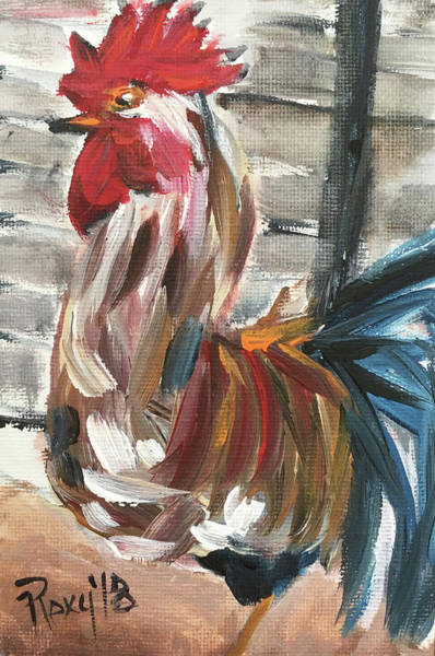 Wall Art - Painting - Ruling The Roost by Roxy Rich