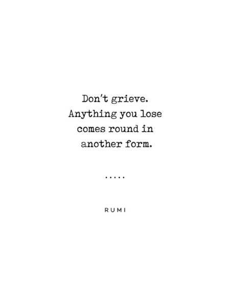 Rumi Wall Art - Mixed Media - Rumi Quote On Life 04 - Minimal, Sophisticated, Modern, Classy Typewriter Print by Studio Grafiikka