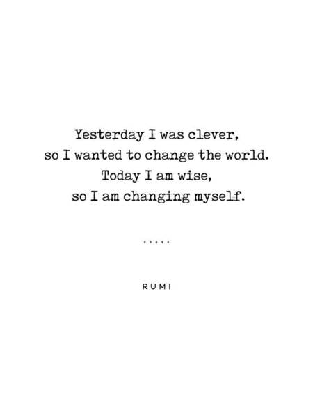Wall Art - Mixed Media - Rumi Quote On Life 05 - Minimal, Sophisticated, Modern, Classy Typewriter Print by Studio Grafiikka