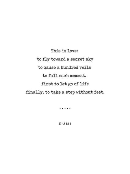 Wall Art - Mixed Media - Rumi Quote On Love 14 - Minimal, Sophisticated, Modern, Classy Typewriter Print - This Is Love by Studio Grafiikka