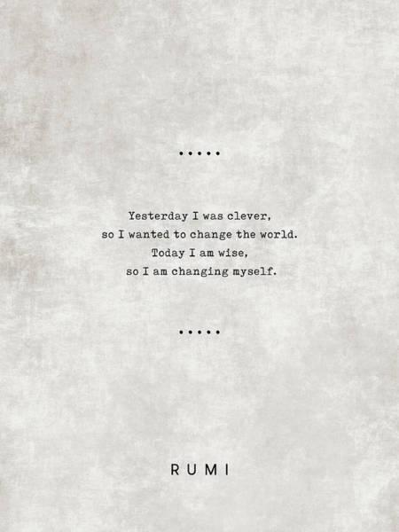 Rumi Wall Art - Mixed Media - Rumi Quotes 05 - Literary Quotes - Typewriter Quotes - Rumi Poster - Sufi Quotes - Wisdom by Studio Grafiikka