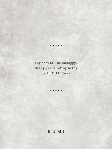 Rumi Wall Art - Mixed Media - Rumi Quotes 09 - Literary Quotes - Typewriter Quotes - Rumi Poster - Sufi Quotes by Studio Grafiikka