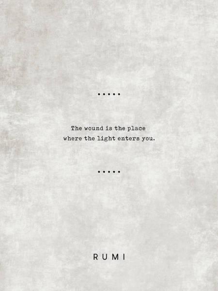 Reading Mixed Media - Rumi Quotes 15 - Literary Quotes - Typewriter Quotes - Rumi Poster - Sufi Quotes by Studio Grafiikka