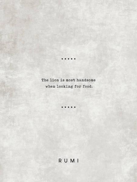 Rumi Wall Art - Mixed Media - Rumi Quotes 19 - Literary Quotes - Typewriter Quotes - Rumi Poster - Sufi Quotes by Studio Grafiikka