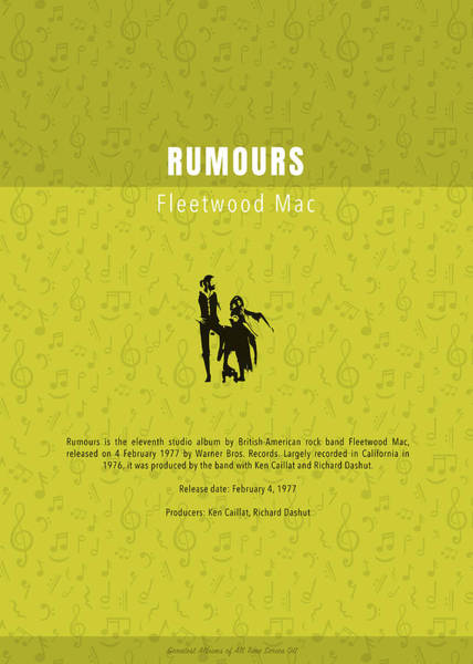 Wall Art - Mixed Media - Rumours Fleetwood Mac Greatest Albums Of All Time Minimalist Series by Design Turnpike