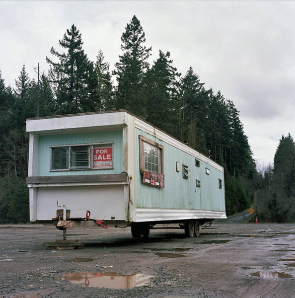 Absence Wall Art - Photograph - Run Down Trailer by Photo By Christopher Hall