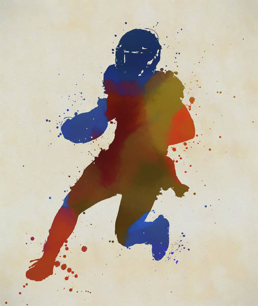 Painting - Running Football Player by Dan Sproul