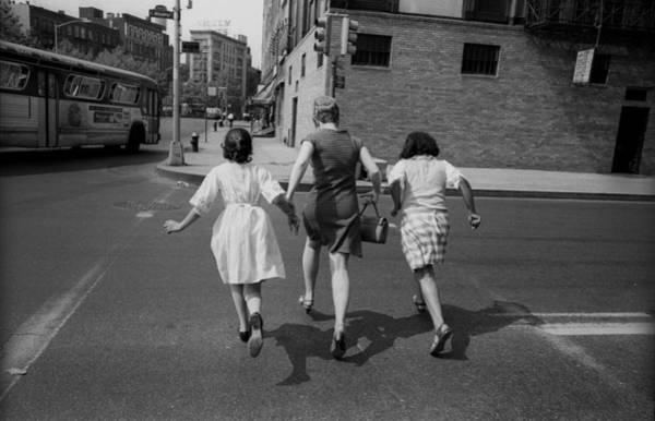 East Side Photograph - Running For The Uptown Bus by I C Rapoport