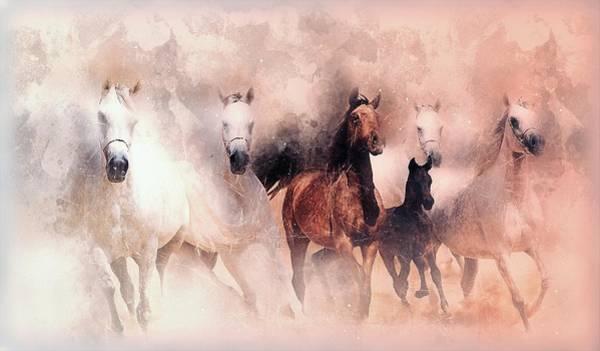 Running Digital Art - Running Horse by ArtMarketJapan