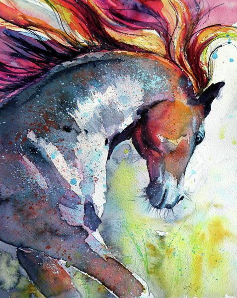 Wall Art - Painting - Running Horse by Kovacs Anna Brigitta