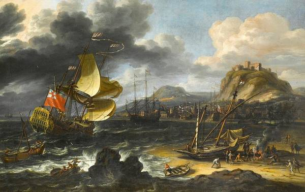 Wall Art - Painting - Running Into A Crowded Continental Port by MotionAge Designs