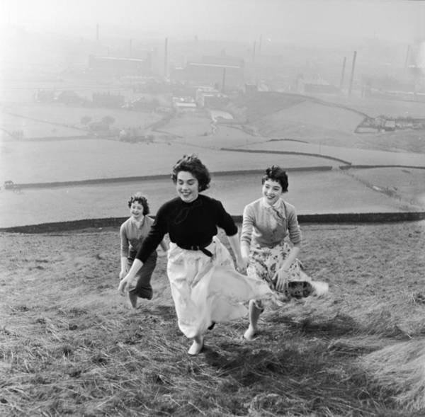 Enjoyment Photograph - Running Uphill by Bert Hardy