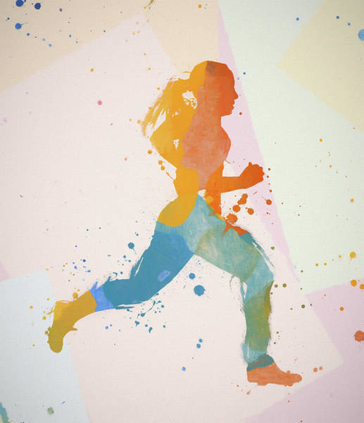 Wall Art - Painting - Running Woman by Dan Sproul
