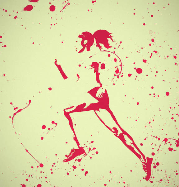 Wall Art - Painting - Running Woman Pop Art by Dan Sproul