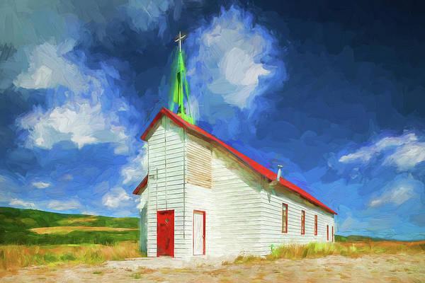 Wall Art - Photograph - Rural Church Glacier National Park 101 by Rich Franco