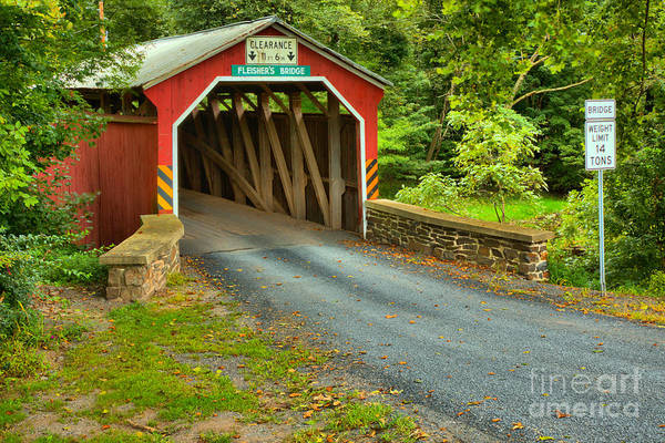 Photograph - Rural Fleisher Covered Bridge by Adam Jewell