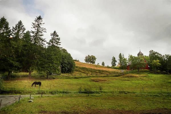 Rural Landscape In Trondheim Norway Art Print