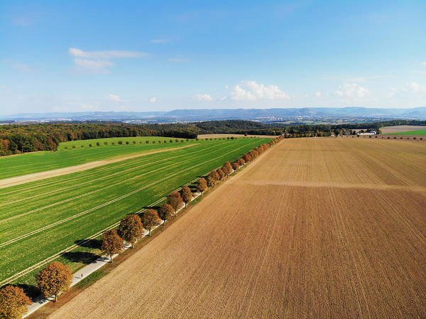Photograph - Rural Landscape With Fields And Trees Aerial View by Matthias Hauser