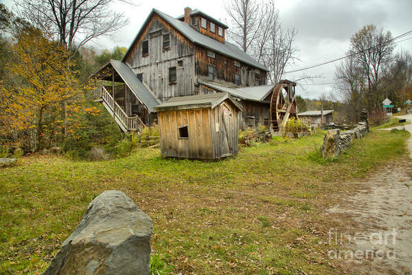 Photograph - Rural  Northern Vermont Grist Mill by Adam Jewell
