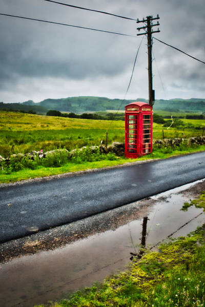 Photograph - Rural Telephone Booth - Scotland by Stuart Litoff