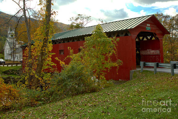 Photograph - Rural West Arlington Covered Bridge by Adam Jewell