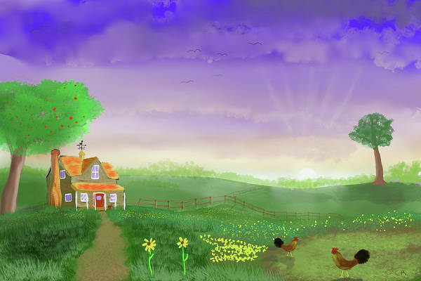 Country House Digital Art - Rural Wonder by Chance Kafka