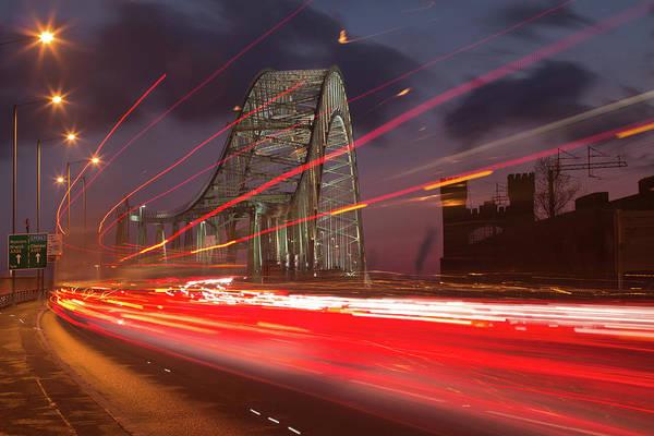 Rush Hour Photograph - Rush Hour At Runcorn Bridge by Chris Conway