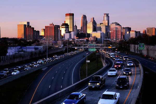 Rush Hour Photograph - Rush Hour In Minneapolis by Nattapol Pornsalnuwat