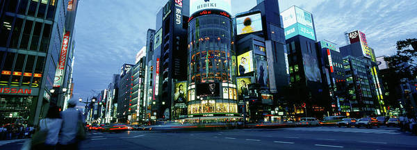 Ginza Wall Art - Photograph - Rush Hour In The City, Ginza, Tokyo by Panoramic Images
