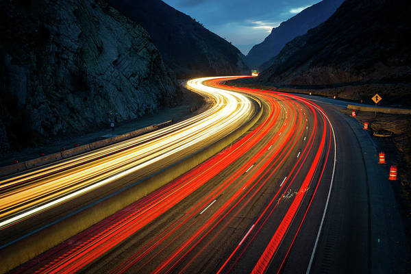 Rush Hour Photograph - Rush Hour Made Into Art by Photo By Sam Scholes