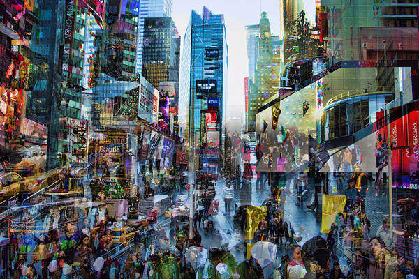 Midtown Manhattan Digital Art - Rush Hour by Tim Palmer