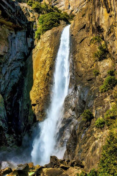 Photograph - Rushing Lower Yosemite Fall by Garry Gay