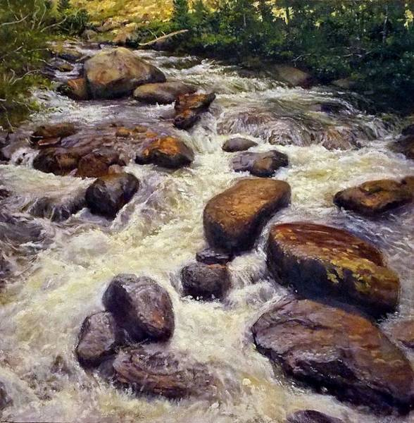 Andrew Jackson Wall Art - Painting - Rushing Waters by Andrew Jackson